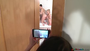 Miky Love films Daisy Lee & Anie Darling making lesbian love