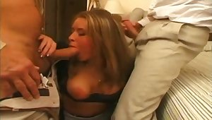 Cuckold Sharing Wifey In Hotel Room  - Rare Porn Video