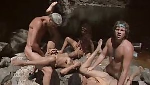 Hot Latinas Orgy in the River