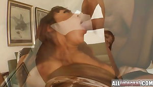 Squirt surprise as she's fucked in the ass