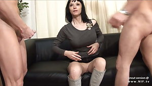 Big boobed french milf hard analyzed for her casting couch