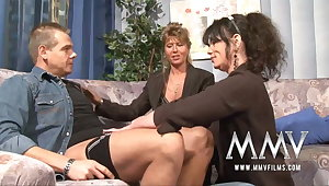MMV Films Full-grown teacher having fun with a couple