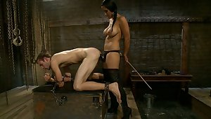 Mistress and her male consequent to fuck