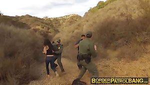 Busty Latin floozie Alejandra Leon fucks the nasty patrol