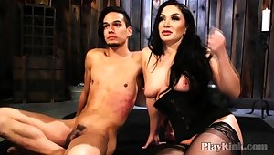 Bigtitted Milf Carrying-on With Ricochet Guy in Bdsm Porn