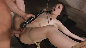 Excellent BDSM porn with an increment of unmixed orgasm while she plays submissive