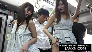 Warmness Japanese Babes On The Bus - asian