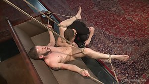 Wolf Hudson partakes in gay male slave training, coupled with the result is hot