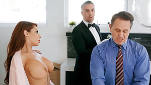 Horny butler is ready with reference to anal fuck housewife
