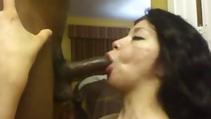 This spicy hot Latina woman prefers inky meat added to she likes the attention