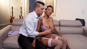 Ebony milf September Wield the sceptre is having crazy dealings fun more handsome white man