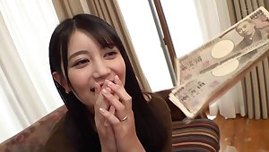 Asian amateur Sucking Cock for money