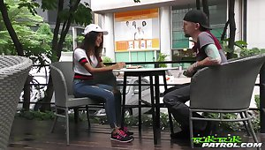 Libidinous Thai student Firsthand gets intimate with barely known guy