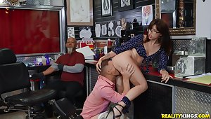 Dazzling Isabel Moon caught getting boned in the tattoo shop