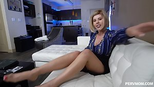 Controversial MILF Amber Chase gets fucked by a monster white detect